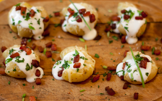 finger food batata queijo bacon